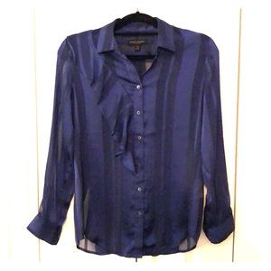 Banana Republic, navy blouse, size XS